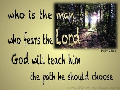Psalm 25:12 Who Is The Man Who Fears God (gold)